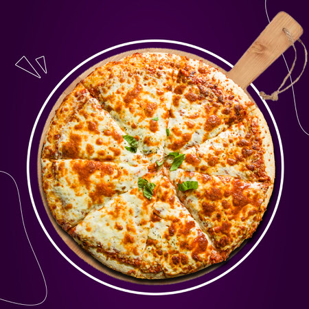Classic Homestyle cheese pizza