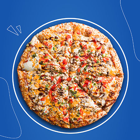 Nayya Pizza Smokey BBQ pizza